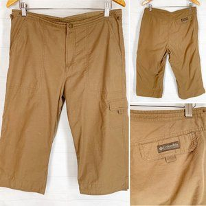 Columbia M Light Brown Pants Crop Capri Cargo